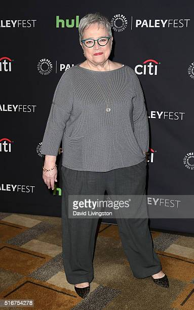 Actress Kathy Bates attends The Paley Center For Media's 33rd Annual PaleyFest Los Angeles Closing Night Presentation American Horror Story Hotel at...