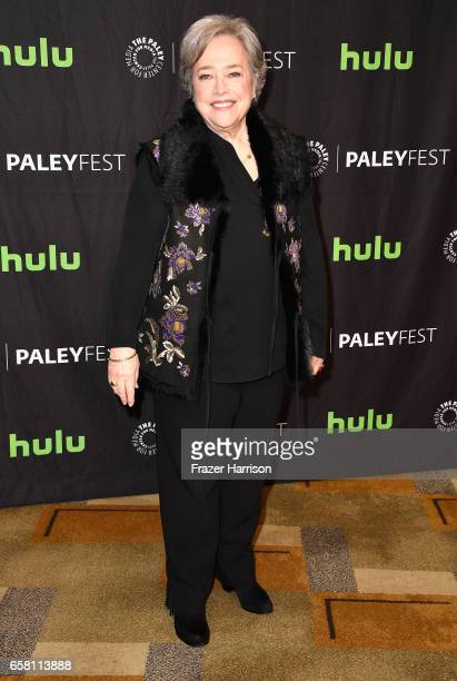 Actress Kathy Bates attends The Paley Center For Media's 34th Annual PaleyFest Los Angeles American Horror Story Roanoke screening and panel at Dolby...