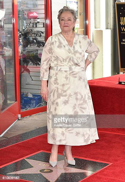 Actress Kathy Bates in honored with a Star on the Hollywood Walk of Fame on September 20 2016 in Hollywood California