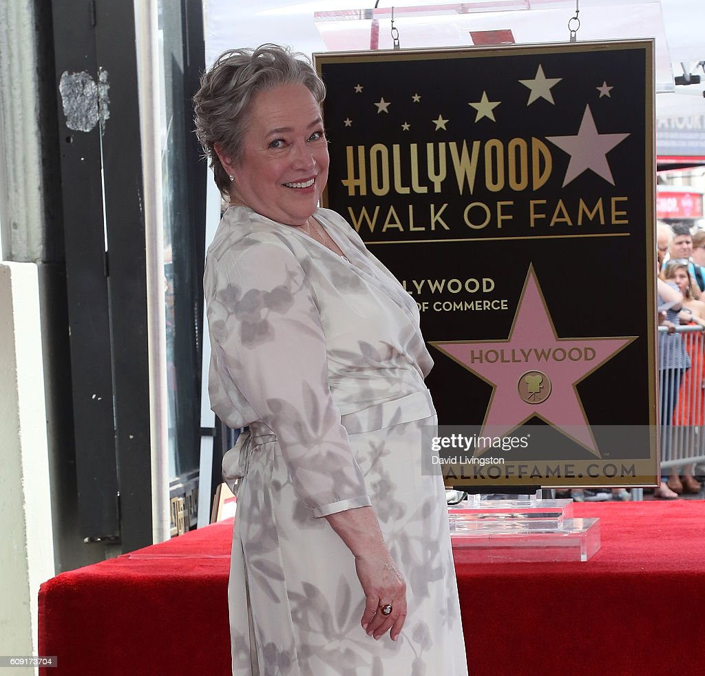 Kathy Bates Honored With Star On The Hollywood Walk Of Fame : News Photo