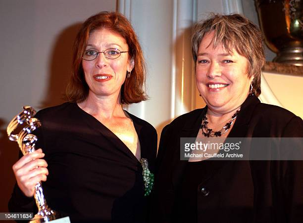 Actress Kathy Bates right presents the Excellence in Costume DesignFilm Period/Fantasy Award to Judianna Makovsky for 'Harry Potter and the...