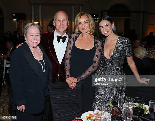 Actress Kathy Bates screenwriter Ryan Murphy actress Jessica Lange and actress Demi Moore attend the Santa Barbara International Film Festival 9th...