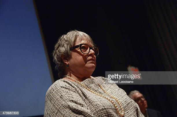 Actress Kathy Bates takes part in a QA following the Kids For Cash screening at AMC Village 7 on February 28 2014 in New York City