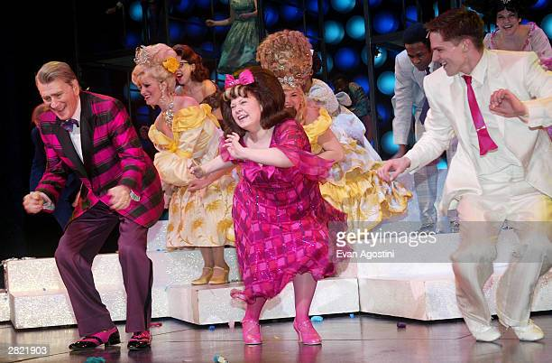 Actress Kathy Brier photographed on stage during her performance in the Broadway Musical 'Hairspray' at the Neil Simon Theatre December 18 2003 in...
