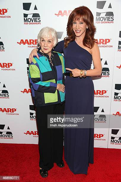 Actress Kathy Griffin and her mother Maggie Griffin attends the 13th Annual AARP's Movies For Grownups Awards Gala at Regent Beverly Wilshire Hotel...