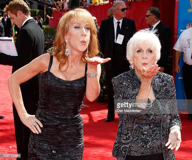 Actress Kathy Griffin and mother Maggie Griffin attend the 62nd Annual Primetime Emmy Awards at Nokia Theatre Live LA on August 29 2010 in Los...