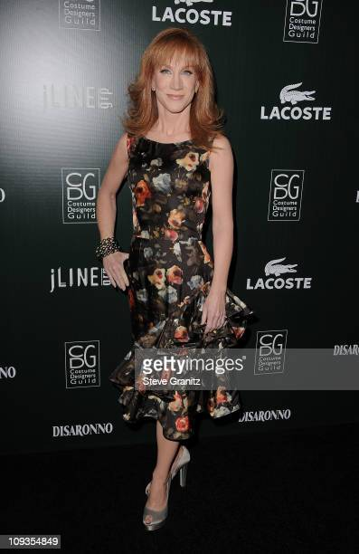 Actress Kathy Griffin arrives at the 13th Annual Costume Designers Guild Awards with presenting sponsor Lacoste held at The Beverly Hilton hotel on...