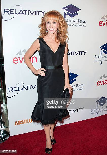 Actress Kathy Griffin arrives at the 20th Annual Fulfillment Fund Stars Benefit Gala at The Beverly Hilton Hotel on October 14 2014 in Beverly Hills...