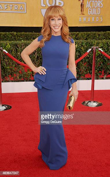 Actress Kathy Griffin arrives at the 20th Annual Screen Actors Guild Awards at The Shrine Auditorium on January 18 2014 in Los Angeles California