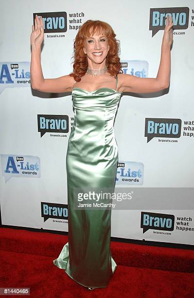 Actress Kathy Griffin attends Bravo's 1st 'AList Awards' at the Hammerstein Ballroom on June 4 2008 in New York City