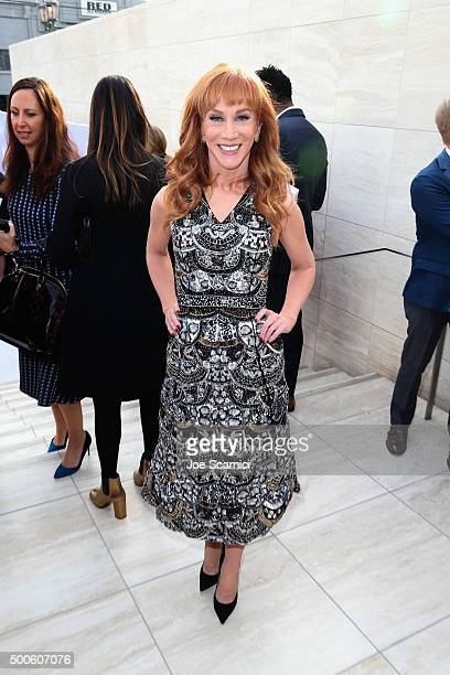 Actress Kathy Griffin attends the 24th annual Women in Entertainment Breakfast hosted by The Hollywood Reporter at Milk Studios on December 9 2015 in...