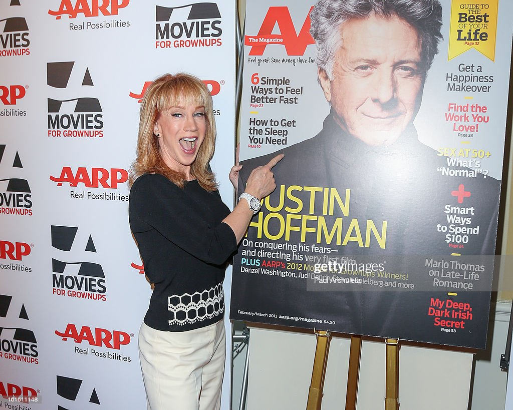 Actress Kathy Griffin attends the AARP Magazine's 12th annual Movies For Grownups Awards luncheon at the Peninsula Hotel on February 12, 2013 in Beverly Hills, California.
