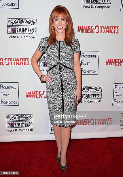 Actress Kathy Griffin attends the InnerCity Arts 2013 Imagine Gala at the Beverly Hilton Hotel on October 30 2013 in Beverly Hills California