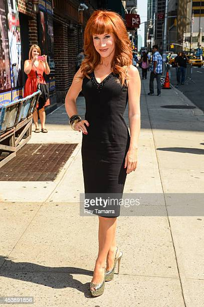 Actress Kathy Griffin enters the 'Late Show With David Letterman' taping at the Ed Sullivan Theater on August 20 2014 in New York City