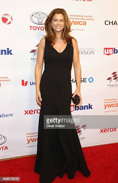 Actress Kathy Ireland arrives at the YWCA Greater Los Angeles Presents The Rhapsody Ball at the Beverly Wilshire Four Seasons Hotel on November 14...