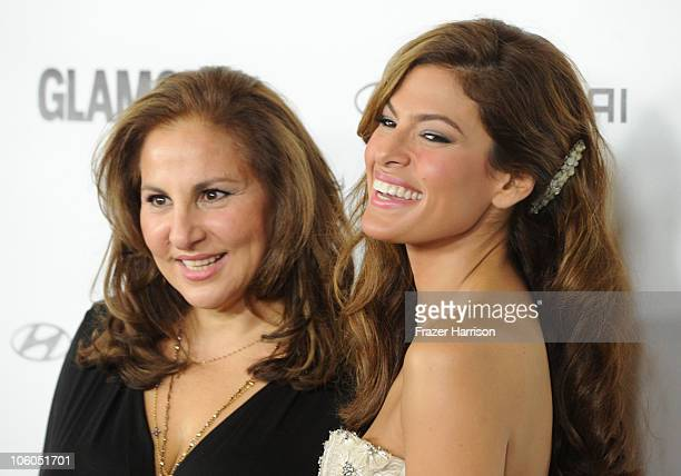 Actress Kathy Najimy and Eva Mendes arrive at Glamour Reel Moments celebrating Jessica Biel Eva Mendes and Rachel Weisz directorial debuts at the...
