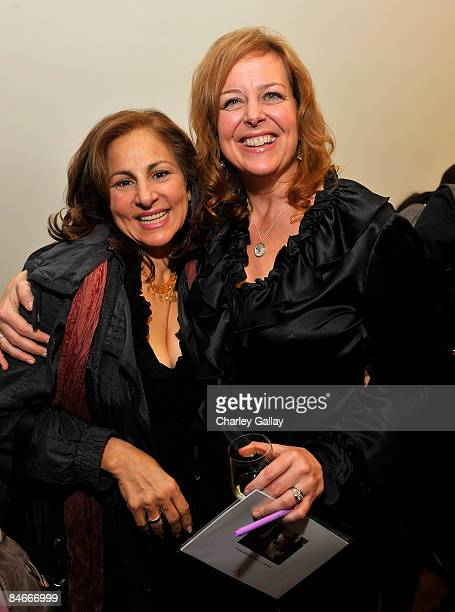 Actress Kathy Najimy and writer Andrea Buchanan attend the book launch for NOTE to SELF by Andrea Buchanan hosted by Sheryl Crow and Step Up Women's...