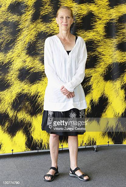Actress Kati Outinen attends 'Le Havre' during the 64th Festival del Film di Locarno in Locarno Switzerland