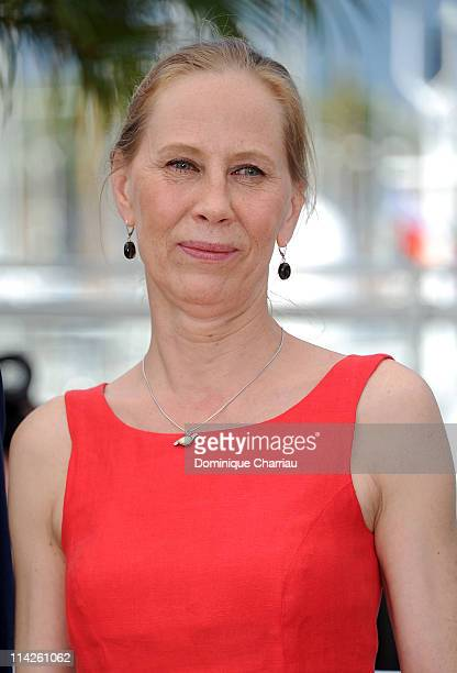 Actress Kati Outinen attends the 'La Havre' Photocall at the Palais des Festivals during the 64th Cannes Film Festival on May 17 2011 in Cannes France