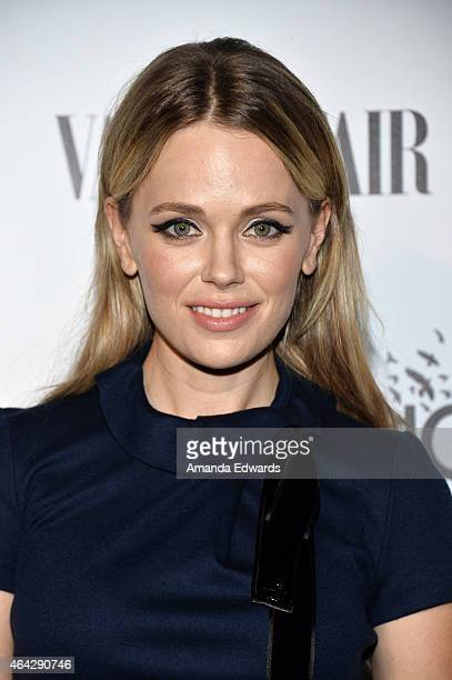 Actress Katia Winter arrives at the Vanity Fair and L'Oreal Paris Girl Rising benefit at 1 OAK on February 20, 2015 in West Hollywood, California.