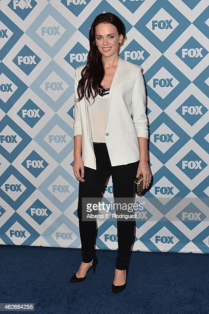 Actress Katia Winter arrives to the 2014 Fox AllStar Party at the Langham Hotel on January 13 2014 in Pasadena California