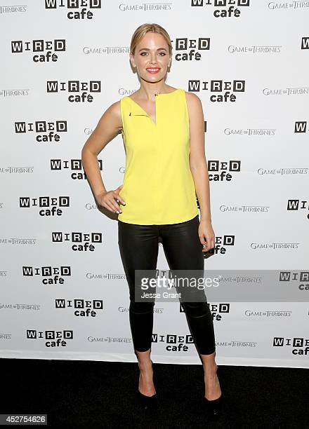 Actress Katia Winter attends day 3 of the WIRED Cafe @ Comic Con at Omni Hotel on July 26 2014 in San Diego California