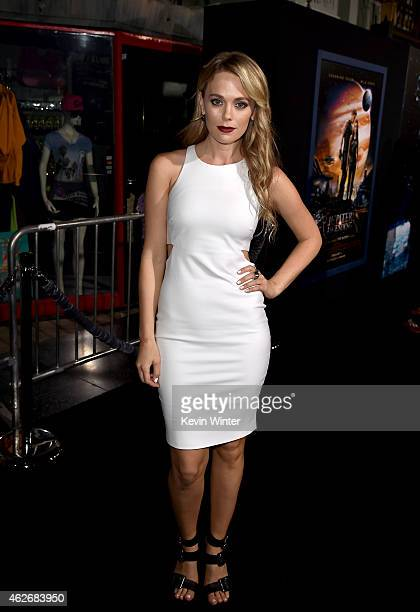 """Actress Katia Winter attends Premiere Of Warner Bros. Pictures' """"Jupiter Ascending"""" at TCL Chinese Theatre on February 2, 2015 in Hollywood,..."""