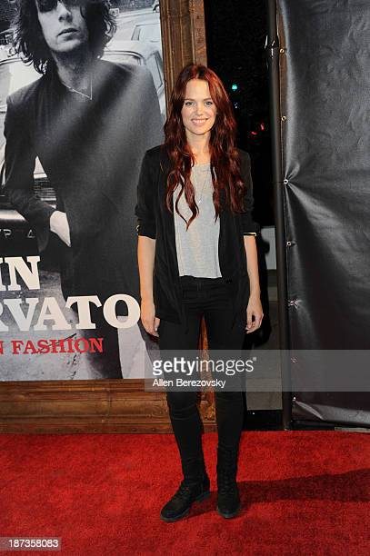 "Actress Katia Winter attends the John Varvatos' new book ""John Varvatos: Rock In Fashion"" launch party at John Varvatos Los Angeles on November 7,..."