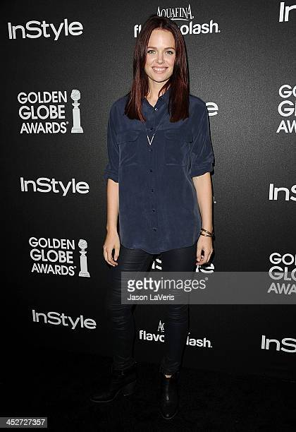 Actress Katia Winter attends the Miss Golden Globe event at Fig Olive Melrose Place on November 21 2013 in West Hollywood California