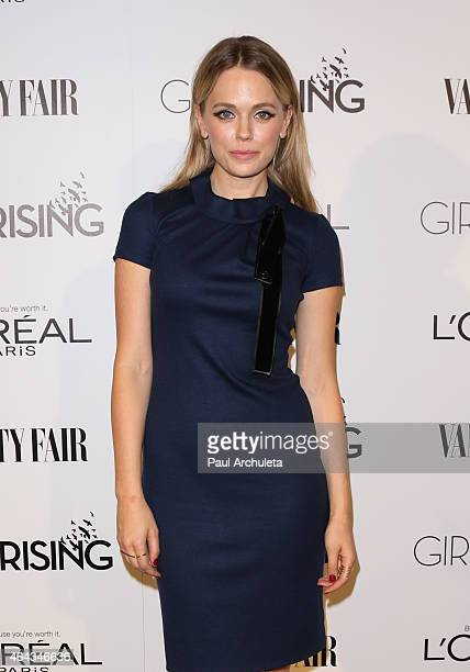 Actress Katia Winter attends the Vanity Fair and L'Oreal Paris Girl Rising benefit at 1 OAK on February 20, 2015 in West Hollywood, California.