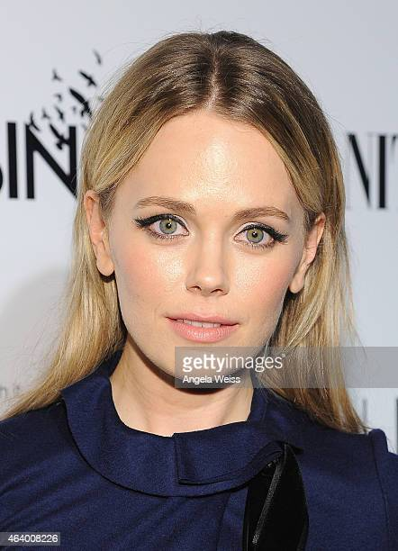 Actress Katia Winter attends VANITY FAIR and L'Oreal Paris DJ Night hosted by Freida Pinto to benefit Girl Rising at 1OAK on February 20 2015 in Los...