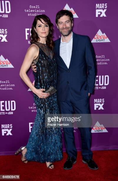 Actress Katie Aselton and Mark Duplass attend FX Network's Feud Bette and Joan premiere at Grauman's Chinese Theatre on March 1 2017 in Hollywood...
