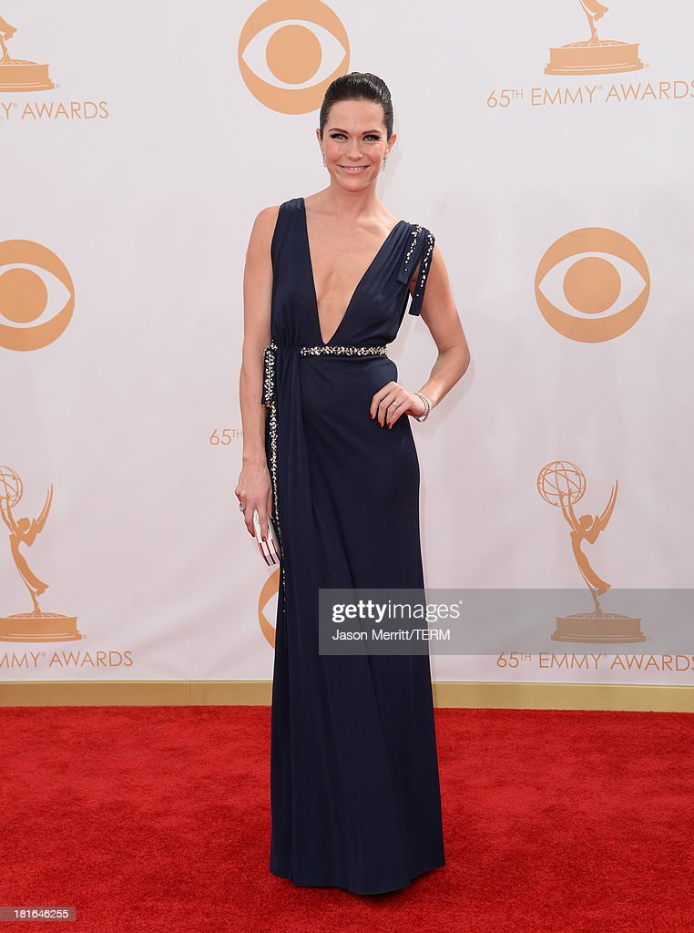 Actress Katie Aselton arrives at the 65th Annual Primetime Emmy Awards held at Nokia Theatre L.A. Live on September 22, 2013 in Los Angeles, California.