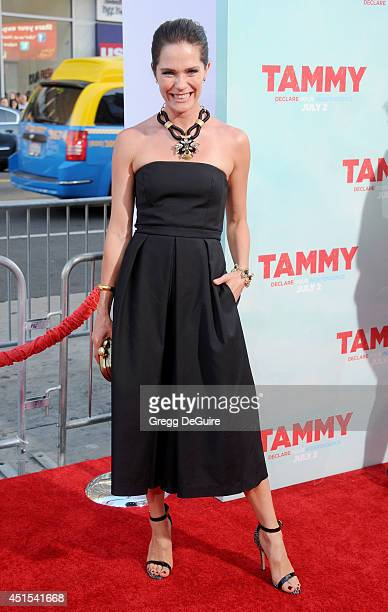 Actress Katie Aselton arrives at the premiere of 'Tammy' at TCL Chinese Theatre on June 30 2014 in Hollywood California