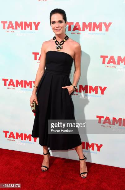 Actress Katie Aselton arrives at the Premiere of Warner Bros Pictures' Tammy at TCL Chinese Theatre on June 30 2014 in Hollywood California
