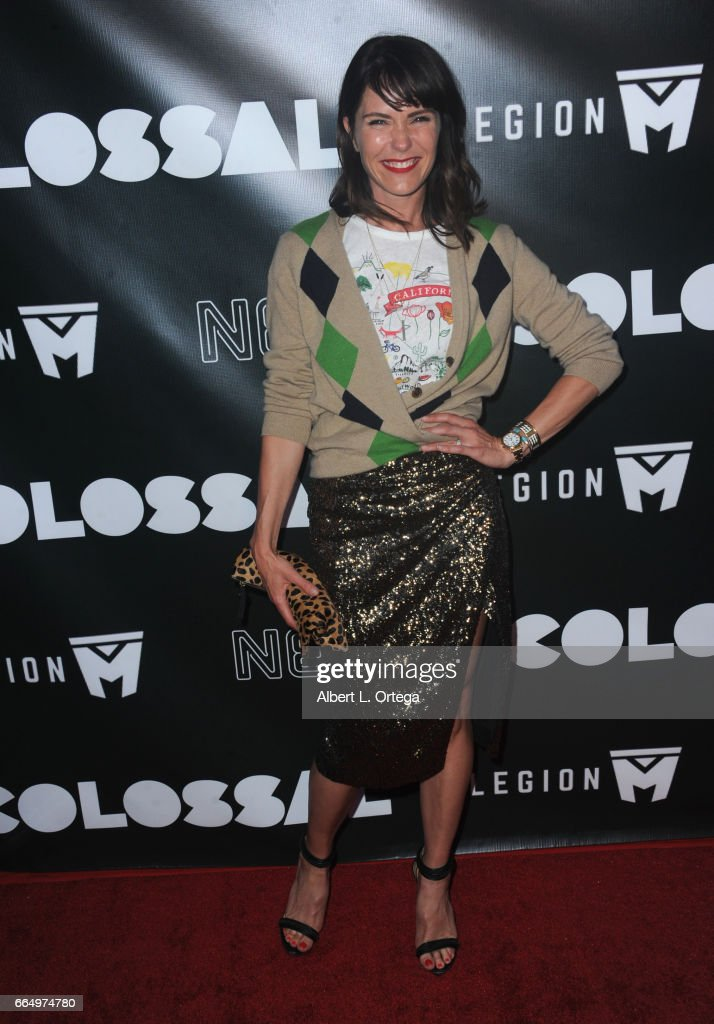 Actress Katie Aselton arrives for the Premiere Of Neon's 'Colossal' held at the Vista Theatre on April 4, 2017 in Los Angeles, California.