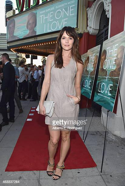 Actress Katie Aselton arrives to the premiere of RADIUSTWC's The One I Love at the Vista Theatre on August 7 2014 in Los Angeles California