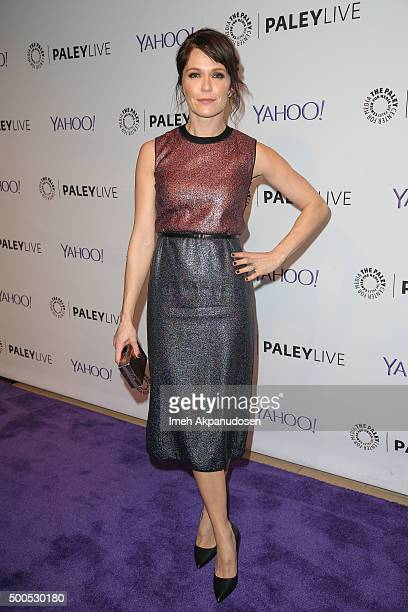Actress Katie Aselton attends PaleyLive's 'The League A Fond Farewell' at The Paley Center for Media on December 8 2015 in Beverly Hills California