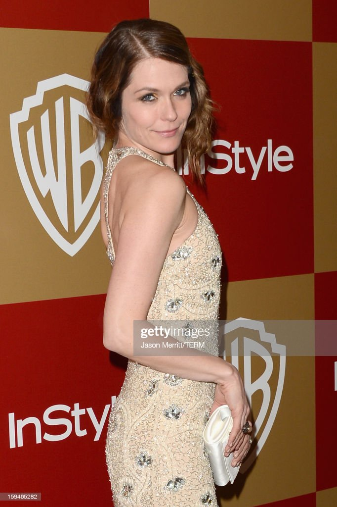Actress Katie Aselton attends the 14th Annual Warner Bros. And InStyle Golden Globe Awards After Party held at the Oasis Courtyard at the Beverly Hilton Hotel on January 13, 2013 in Beverly Hills, California.