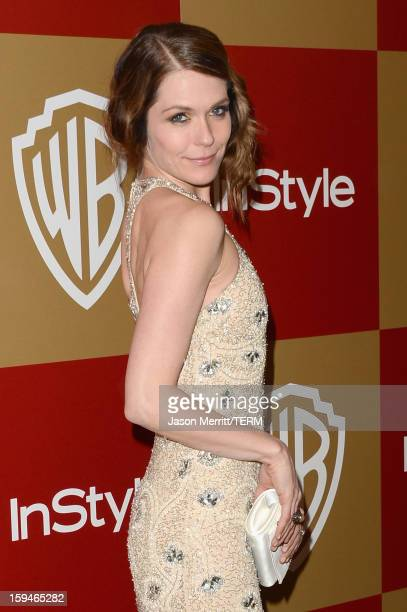 Actress Katie Aselton attends the 14th Annual Warner Bros And InStyle Golden Globe Awards After Party held at the Oasis Courtyard at the Beverly...