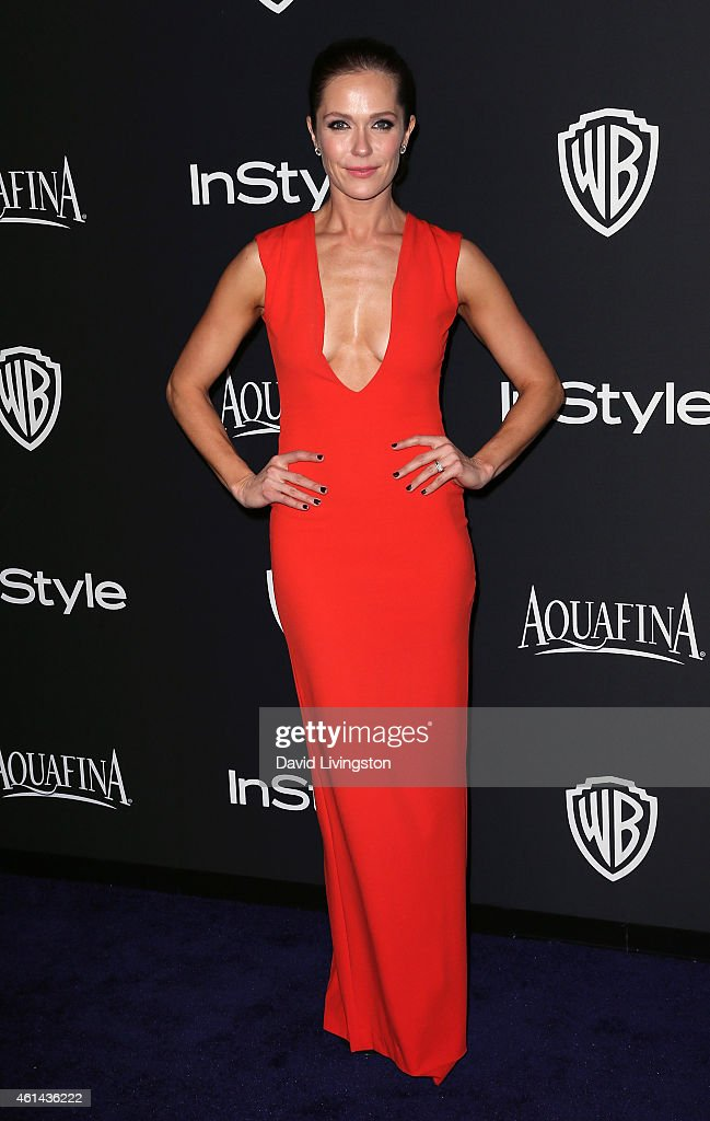 Actress Katie Aselton attends the 2015 InStyle and Warner Bros. 72nd Annual Golden Globe Awards Post-Party at The Beverly Hilton Hotel on January 11, 2015 in Beverly Hills, California.