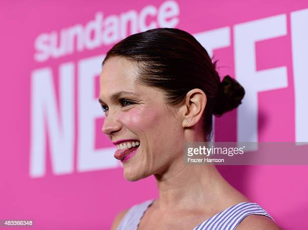 Actress Katie Aselton attends the Mistress America Los Angeles premiere during the Sundance NEXT FEST at The Theatre at Ace Hotel on August 7 2015 in...