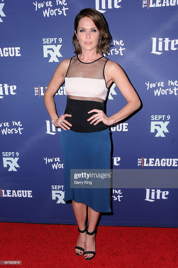 Actress Katie Aselton attends the premiere of FXX's 'The League' final season and 'You're The Worst' 2nd season at the Regency Bruin Theater on September 8, 2015 in Westwood, California.
