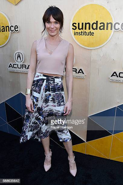 Actress Katie Aselton attends the Sundance Institute NIGHT BEFORE NEXT Benefit at The Theatre at The Ace Hotel on August 11 2016 in Los Angeles...
