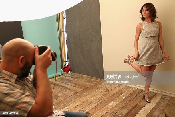 Actress Katie Aselton of FXX's 'The League' attends the Getty Images Portrait Studio powered by Samsung Galaxy at 2015 Summer TCA's at The Beverly...