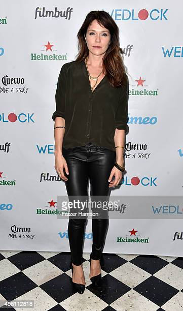 Actress Katie Aseltons attends the screening party for Vimeo On Demand's New WebSeries Wedlock at The Ace Hotel on September 25 2014 in Downtown Los...