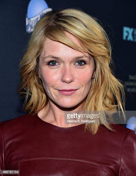 Actress Katie Aseltton attends the premiere of FX's The Comedians at The Broad Stage on April 6 2015 in Santa Monica California