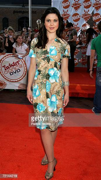 Actress Katie Bell from the show Bluewater High arrives on the orange carpet at the fourth annual Nickelodeon Australian Kids' Choice Awards 2006 at...