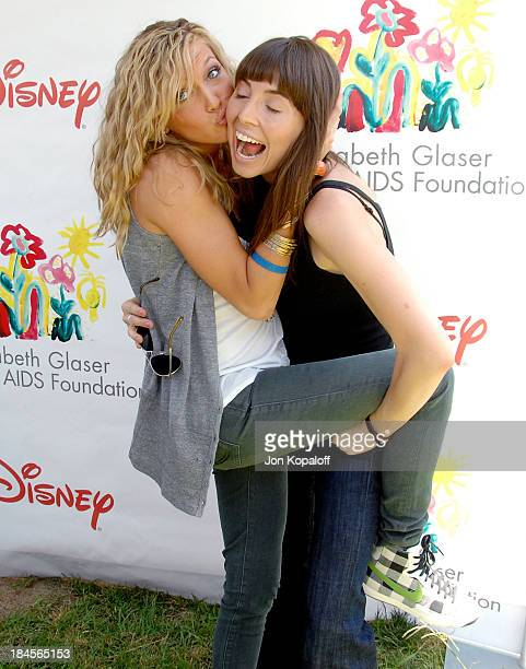 Actress Katie Cassidy and actress Whitney Cummings arrive at the 19th Annual A Time For Heroes Carnival benefitting the Elizabeth Glaser Pediatric...