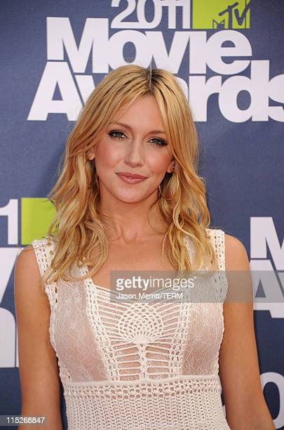 Actress Katie Cassidy arrives at the 2011 MTV Movie Awards at Universal Studios' Gibson Amphitheatre on June 5 2011 in Universal City California